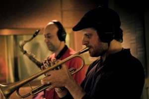 Recording session with Fabrizio Bosso